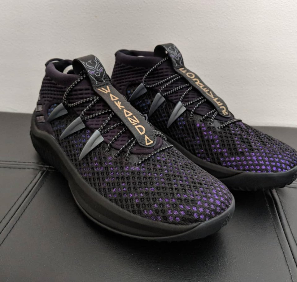 Wakanda Forever.  These Black Panther x Dame 4 sneakers are 🔥. (via @mammothnamedjim)