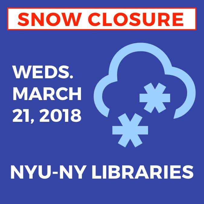 NYU Libraries on Twitter: