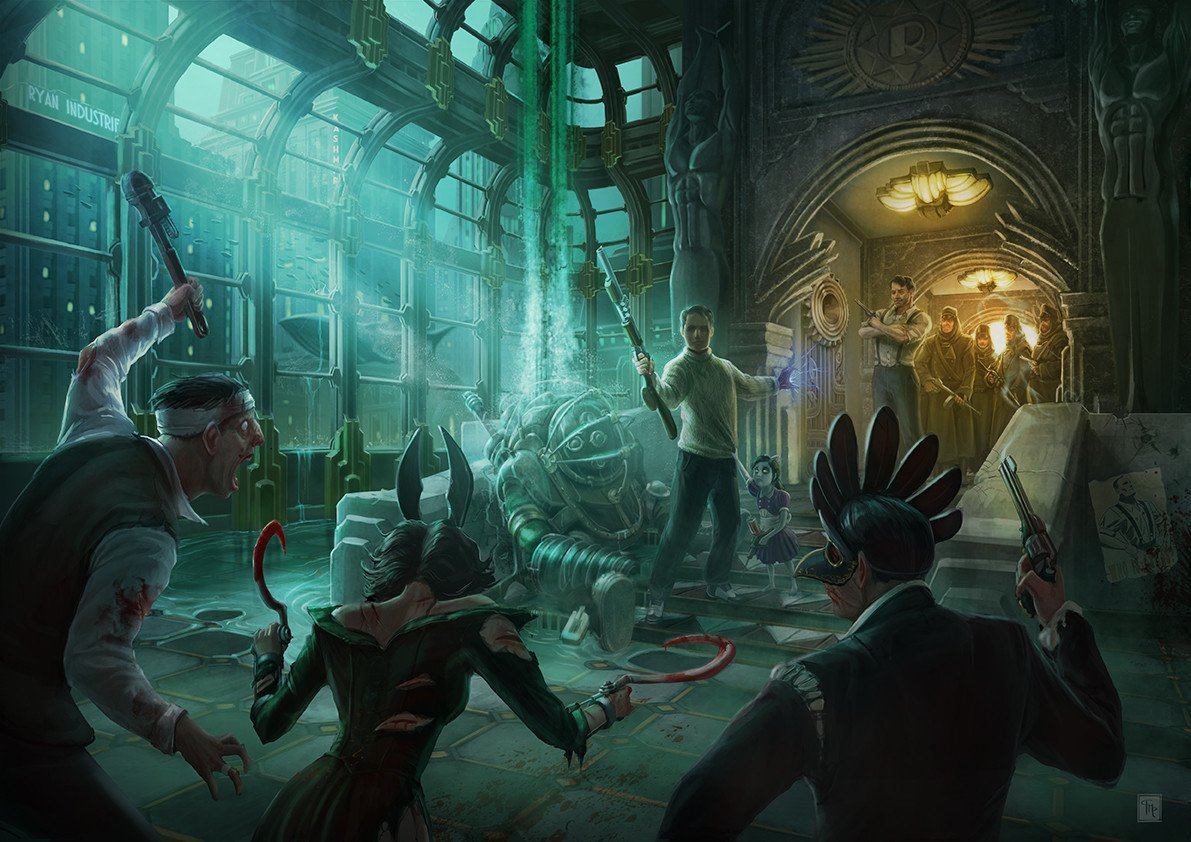 The #FanArt of #BioShock 🐟🎨  'Rapture'...