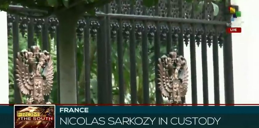#Live  From The South | Former President of #France Nicolas Sarkozy in custody.