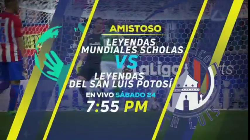 #CompromisosPorLaPaz  Leyendas @AtletideSanLuis vs @InfoScholas   Sábado 24 de marzo EN VIVO por nuestra señal.