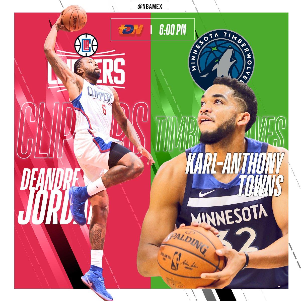 Martes de #NBA por @tdn_twit, con el duelo entre @LAClippers y @Timberwolves. En vivo a las 6:00PM.   ¿Quién es su favorito en este juego?