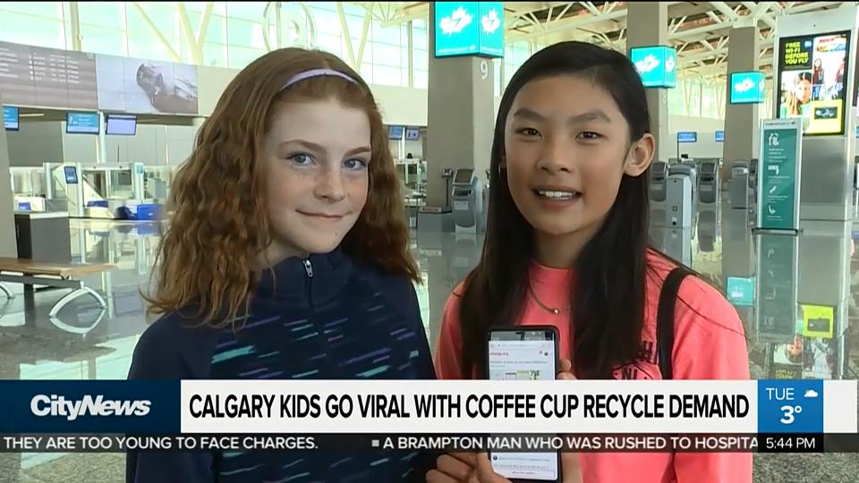 2 sixth-graders from Calgary are headed to Starbucks HQ after their petition asking the coffee giant to switch to a recyclable cup went viral. WATCH: https://t.co/7ii0bFXIbT @LumsdenNews