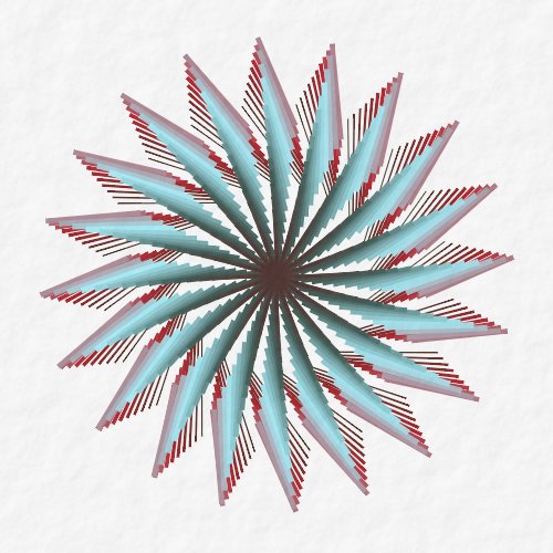 ➤ Edit and animate it on Iterograph https://t.co/siSaW9AgHD #abstract #geometry #art #proceduralart #iterograph
