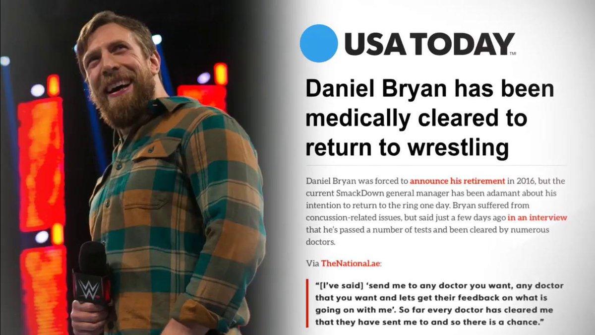 What a day... #DanielBryanReturns #SDLive #YesYesYes @WWEDanielBryan