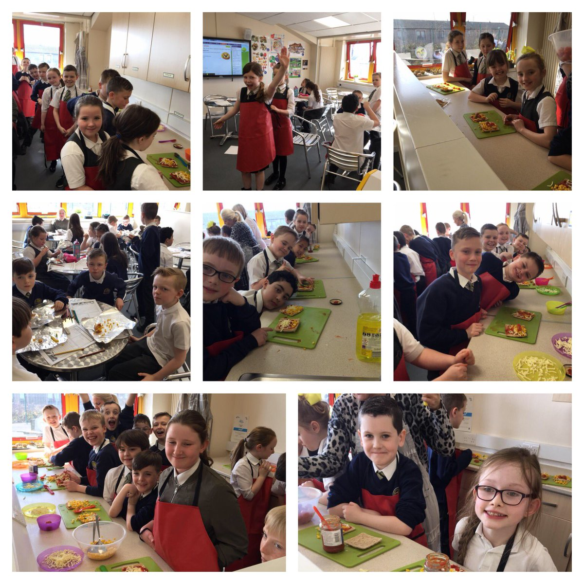 P5a had lots of fun making funny face pizzas  #cookingkitchen @eastfieldschoolpic.twitter.com/si7nodKqTr