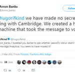 Image for the Tweet beginning: Arron Banks who spent £7.5m