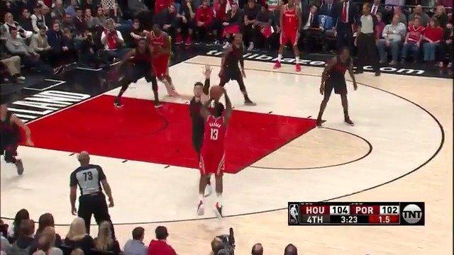 Good defense, better offense!  James Harden was feeling it in crunch time. #Rockets https://t.co/cCWigDduA8