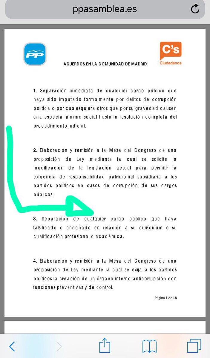 Acuerdo PP-Ciudadanos en la Comunidad de...