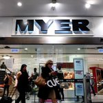 Image for the Tweet beginning: Myer has slumped to a