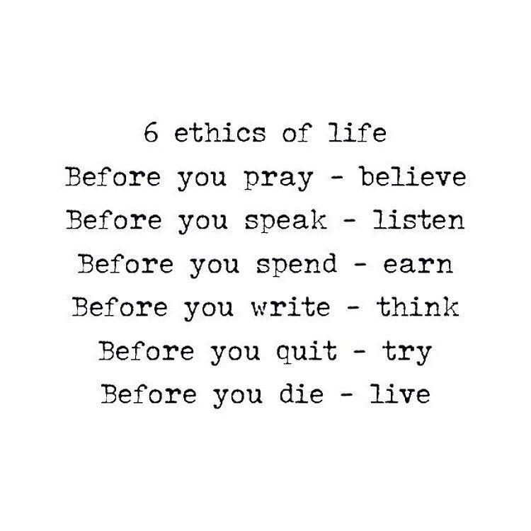giditraffic on twitter six ethics of life sharethis