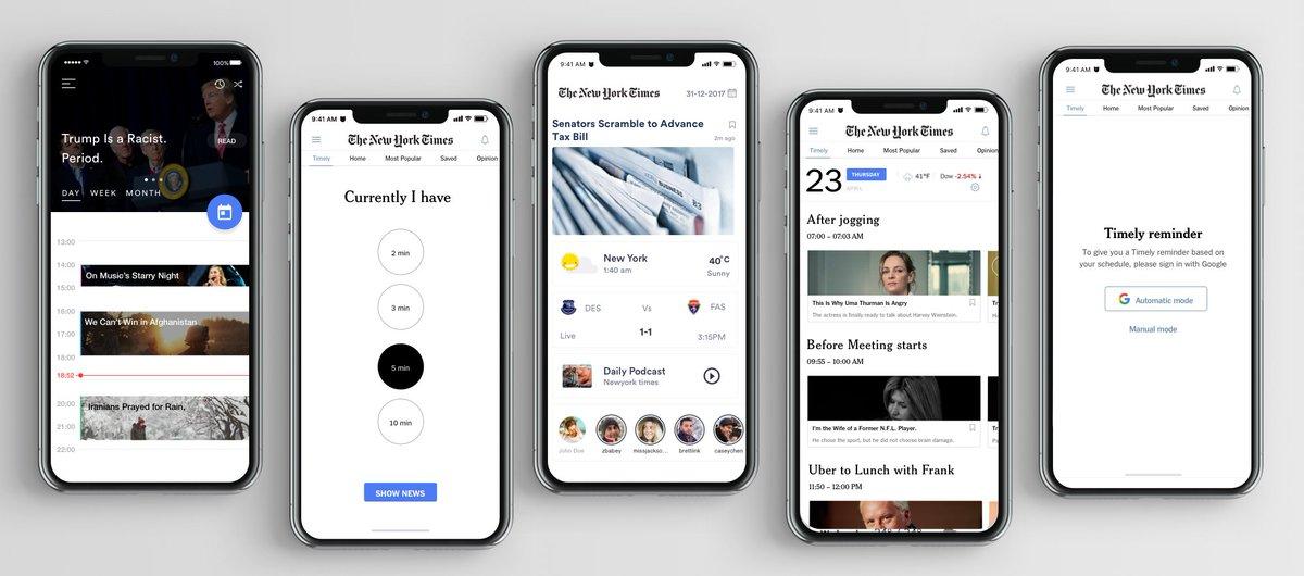 UI/UX 设计案例:我们怎么为著名的纽约时报设计新 APP #设计参考 // UI/UX case study for the New York Times app https://t.co/Czk9bBKi7z https://t.co/OhRcendHpk 1