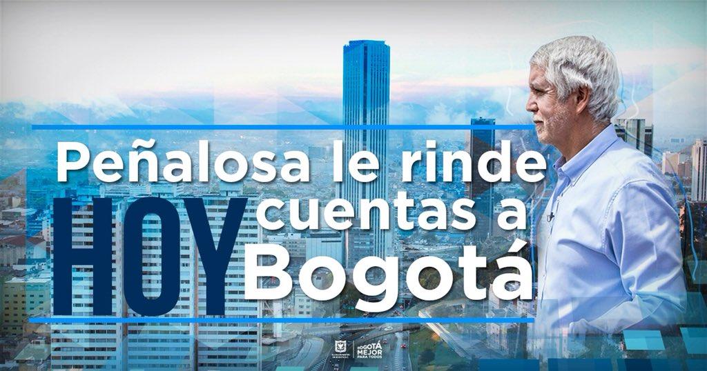 El alcalde @EnriquePenalosa le responde a la ciudad. No te pierdas hoy la transmisión de la rendición de cuentas a partir de las 2 de la tarde. Solo por nuestra fan page https://t.co/7G0fVWVcYf #PeñalosaRindeYCuenta