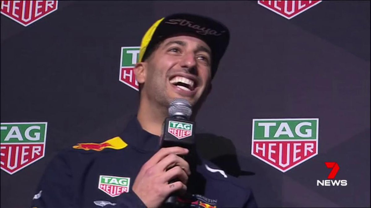 Image for the Tweet beginning: Australian @F1 star @danielricciardo is