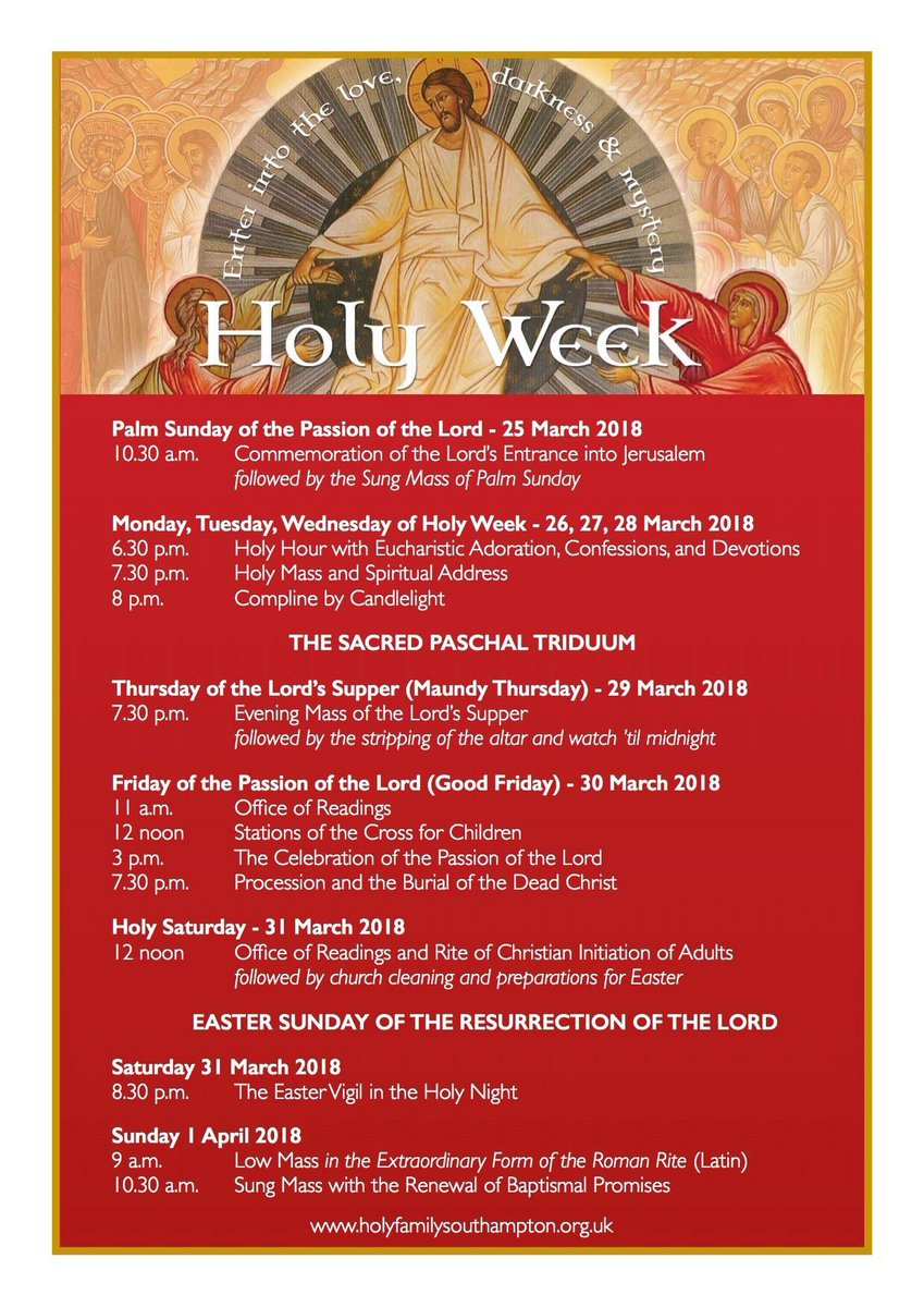 Fr James Bradley On Twitter So Many Catholics Opt Out Of Holy Week