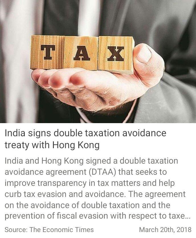 Vikas Jawla On Twitter Tat India Signs Double Taxation Avoidance