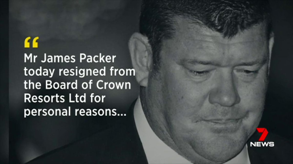 Image for the Tweet beginning: Despite James Packer's $5 billion