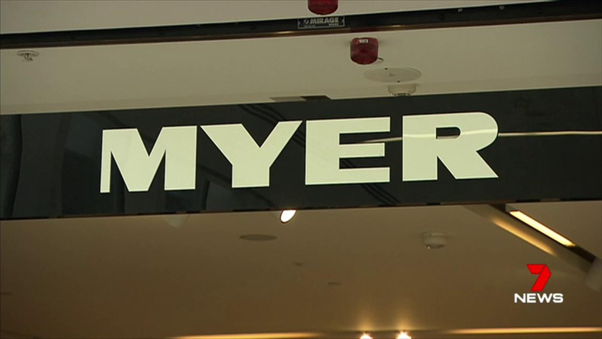 Image for the Tweet beginning: Myer reported a net half-yearly