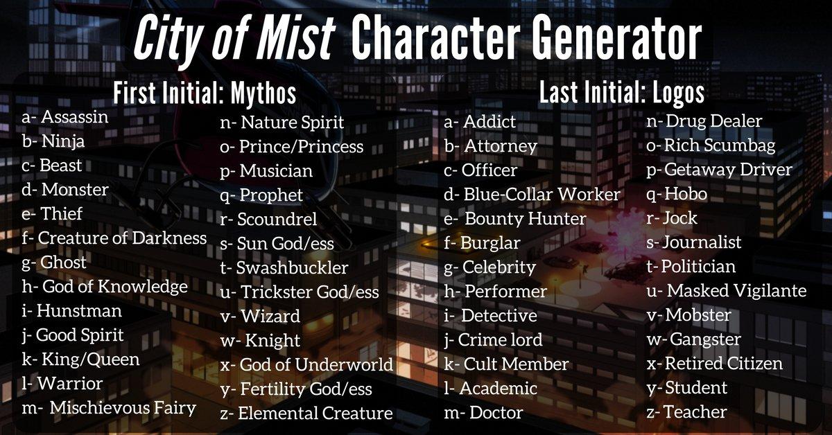 City of Mist RPG on Twitter: