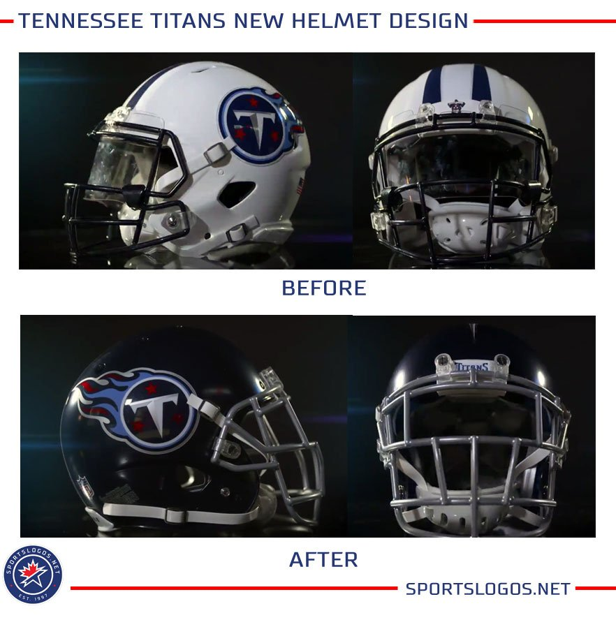 Chris Creamer S Sportslogos Net On Twitter A Lot Of People Saying The New Tennessee Titans Uniforms Look A Lot Like The Cfl S Torontoargos Here S A Side By Side Our Story On The New Titans Uniforms