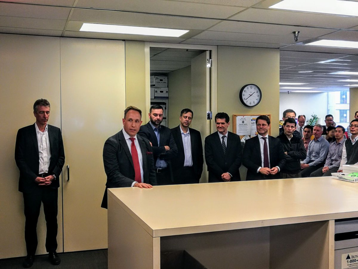Great to have Stuart Raftus, President of @CGWM_CA out to the Vancouver office today. @AndrewNJohns and Stuart had the opportunity to speak in front of our back office today to thank them for all of the hard work and support they provide. https://t.co/7svgOiXjHO