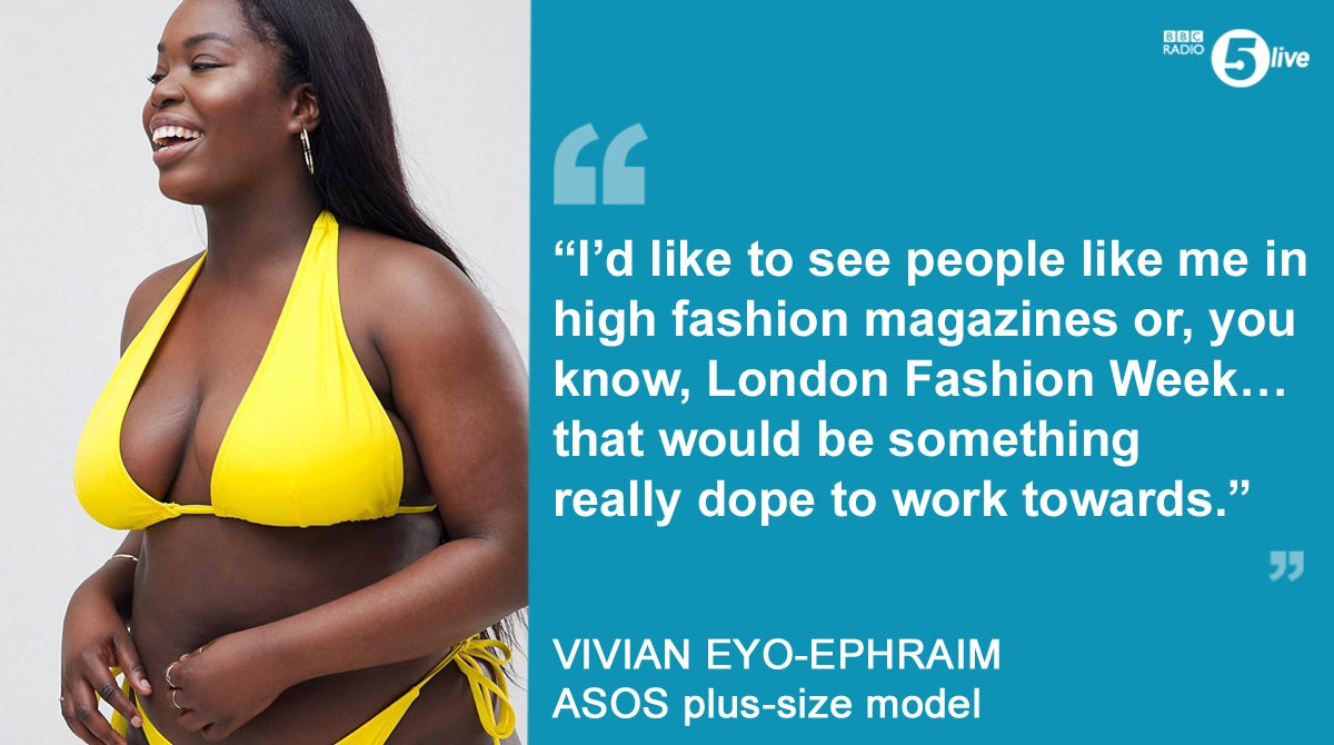 "ce9010d1aee ... to see people like me in high fashion magazines"" asos have been praised  for choosing a plus size model"