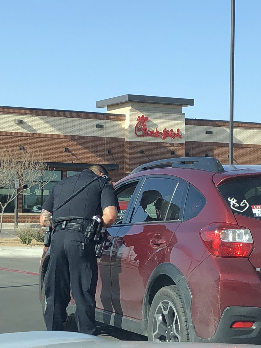 """Lubbock Police Dept. on Twitter: """"No, we didn't come to this Chick-fil-A parking lot because we were craving chicken. Nope, it's because this driver was ..."""