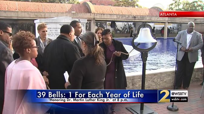 Watch live: the king family will ring a bell 39 times to