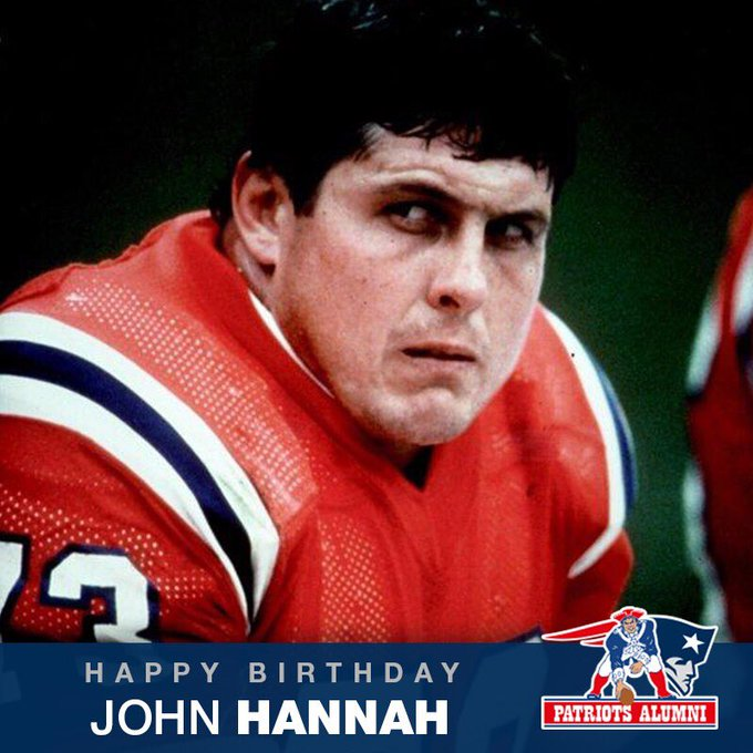 Happy Birthday to Pro Football HOFer, HOFer, and the 2nd best Patriot of all time, John Hannah!