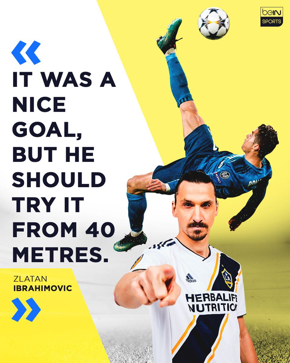 Looks like #Cristiano got Zlataned. 😂  #beINSPORTS #UCL #MLS #Zlatan #RealMadrid