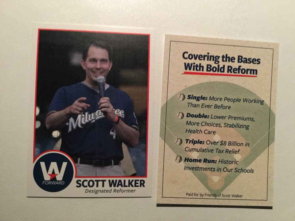 Scott Walker On Twitter Front And Back Of Our Fun Baseball