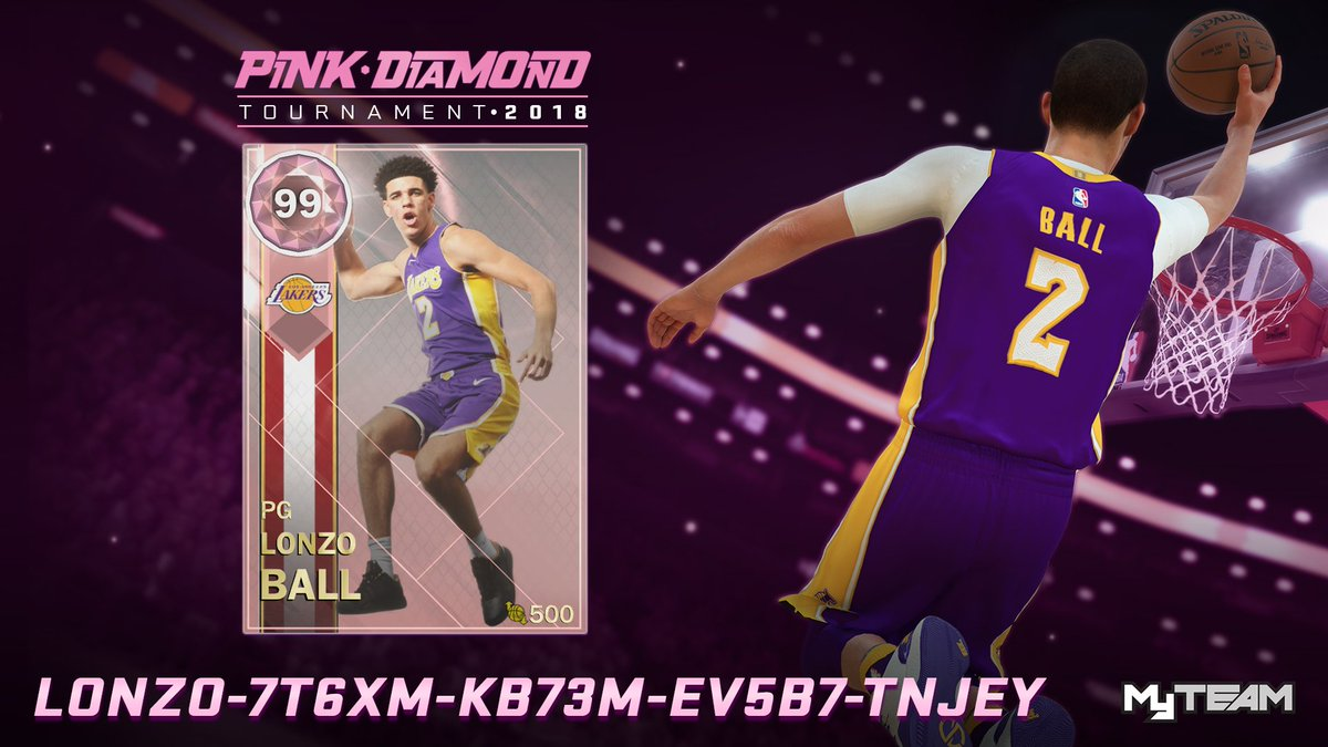 Nba 2k19 Myteam On Twitter Quot The Official Champion Of This Year S Pink Diamond Bracket Is Zo2 To Celebrate We Put Out The Most Pink Diamonds