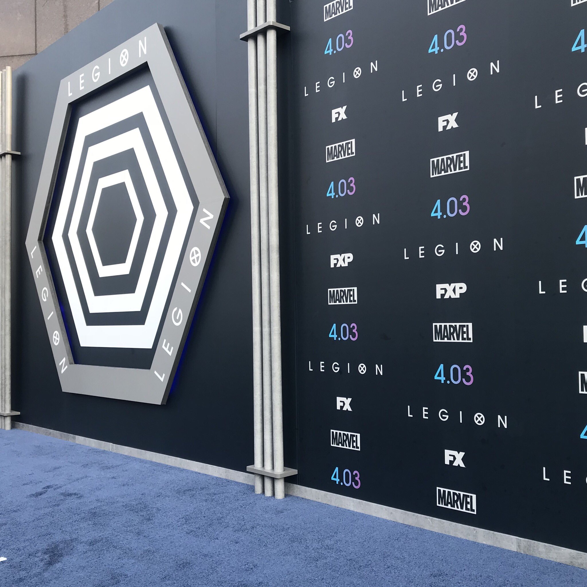 We're at the Season 2 Premiere of @LegionFX! Follow our Instagram Story for more. #LegionFX https://t.co/u8olNK0eLP