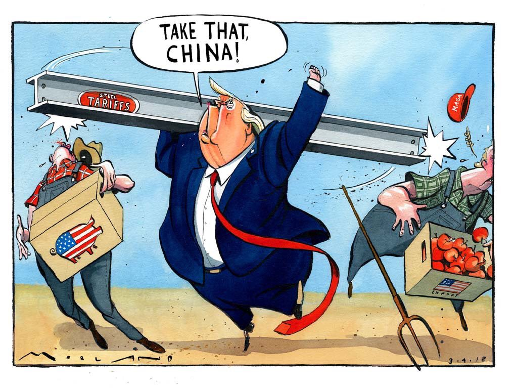 Risultati immagini per trump tariffs cartoons