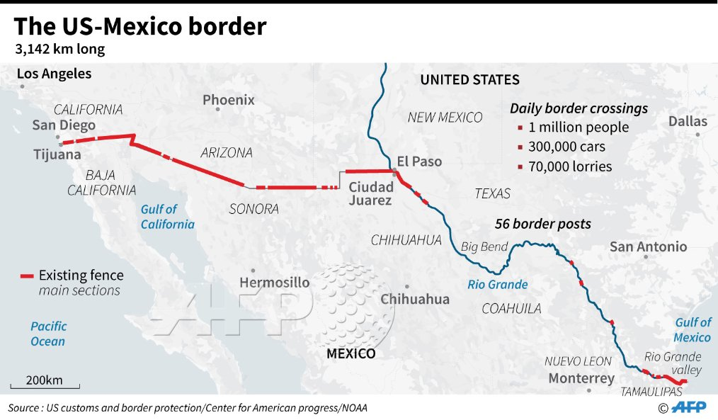 Map Of Us Mexico Border Crossings.Us Government Statistics Show That Illegal Border Crossings