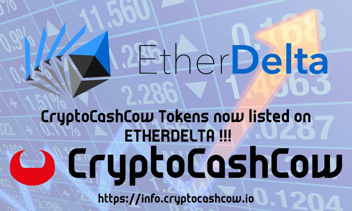 CryptoCashCow on Etherdelta