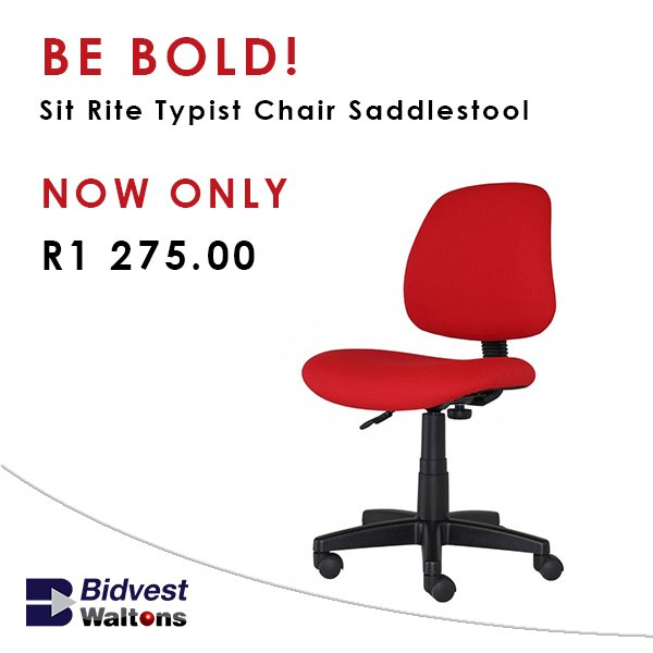 Get Your Red Sit Rite Typist Chair For Only R1275 00 From Waltons Here Https Bit Ly 2iwcia2 Waltonslovepic Twitter Kyej4bziul