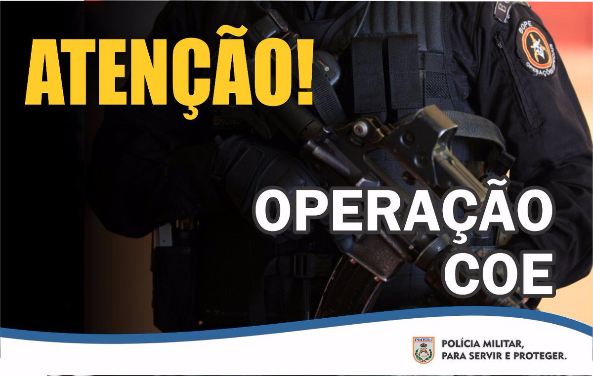 Policiais do #BPChq, com apoio do #18BPM, estão em operação na comunidade Bateau Mouche, na Praça Seca, #ZonaOeste. #PMERJ #SempreAtuante #ServireProteger