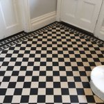 Image for the Tweet beginning: Victorian tiled floor by of