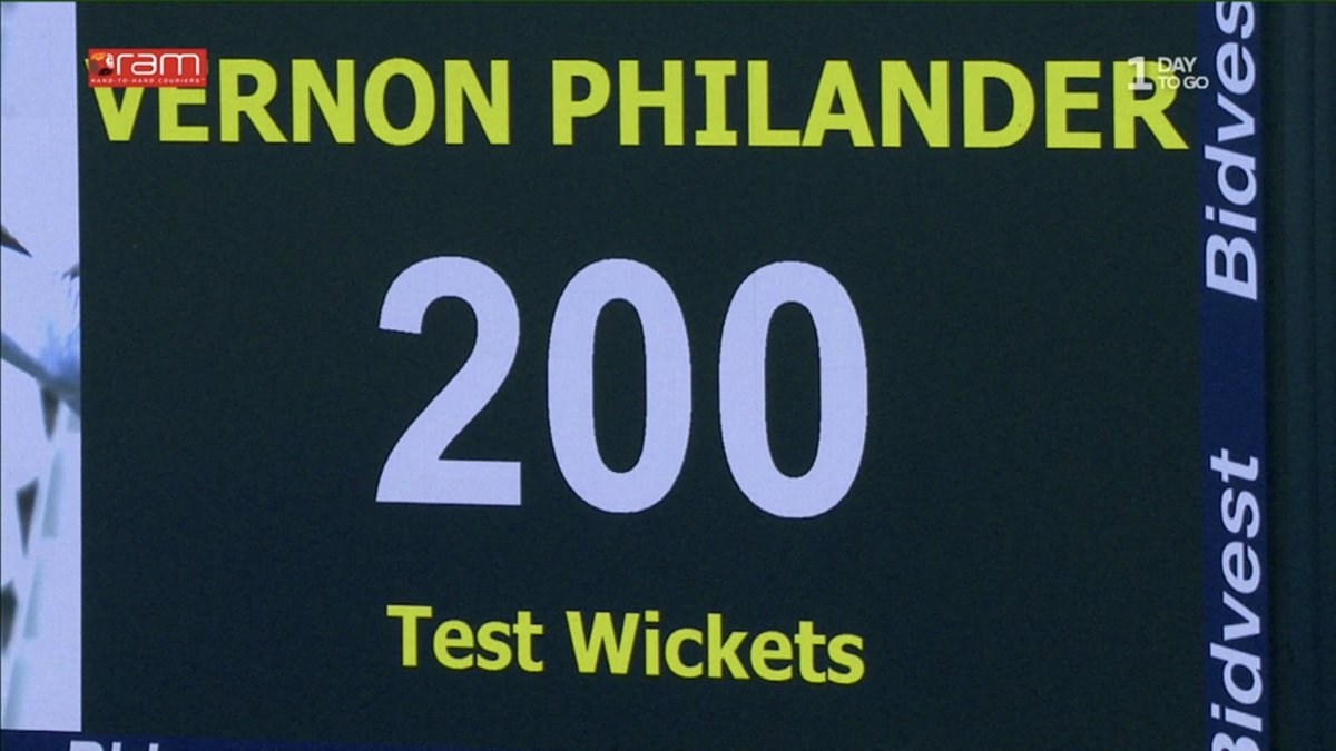 Congratulations to our Vernon Philander who claimed his 200th Test