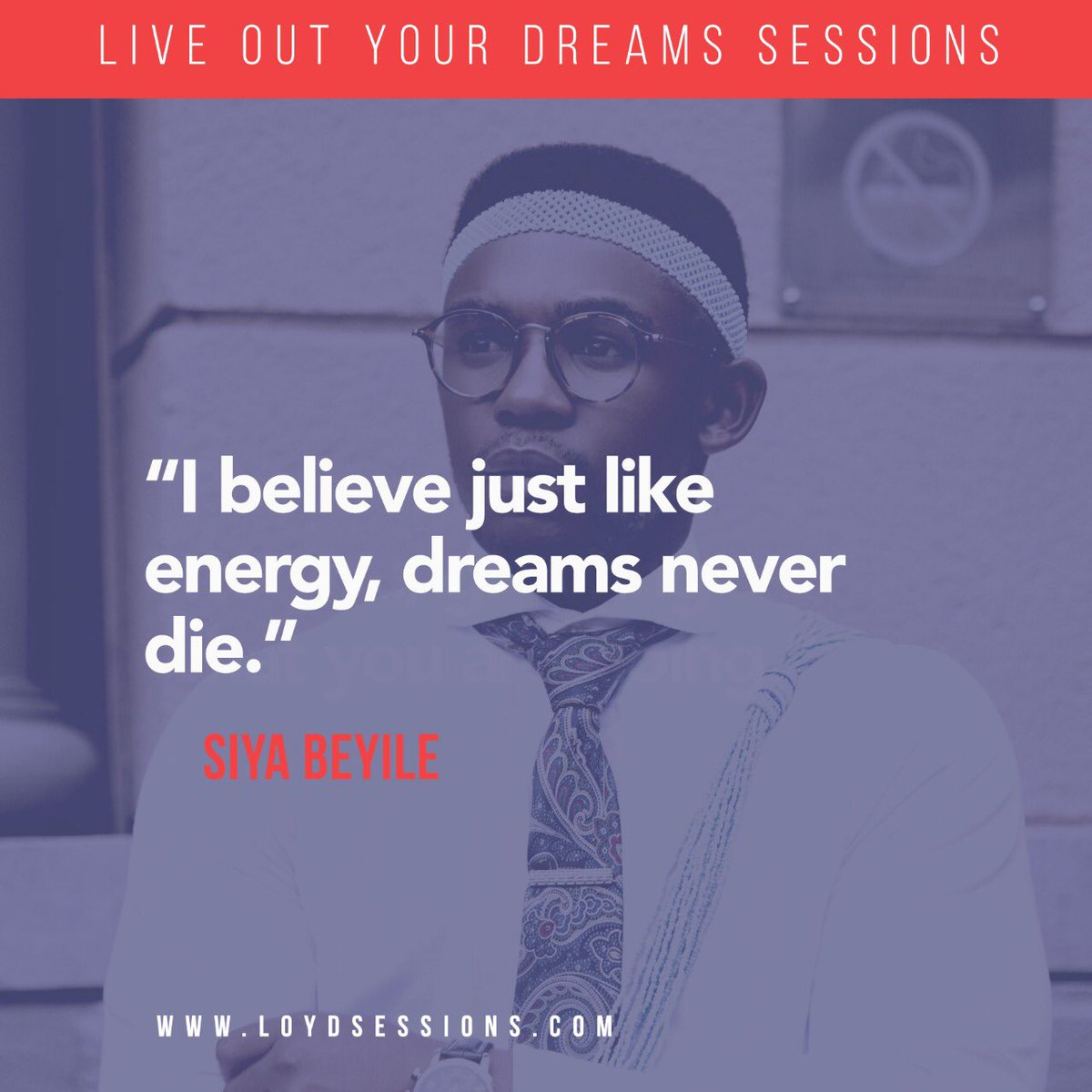 Some wisdom from The Threaded Man, @SiyaBeyile #LOYDSessions #LiveBetterTalks