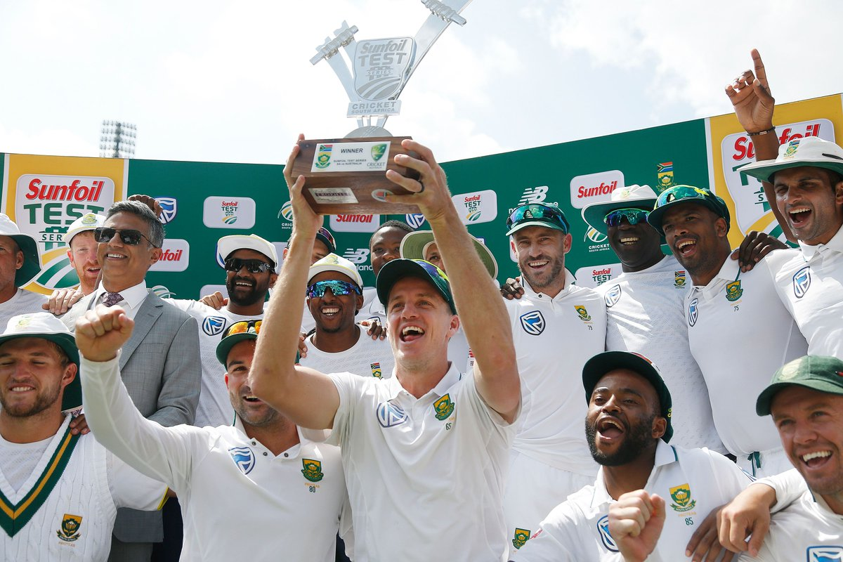 Test series champions against Australia for the first time on home soil since 1970!