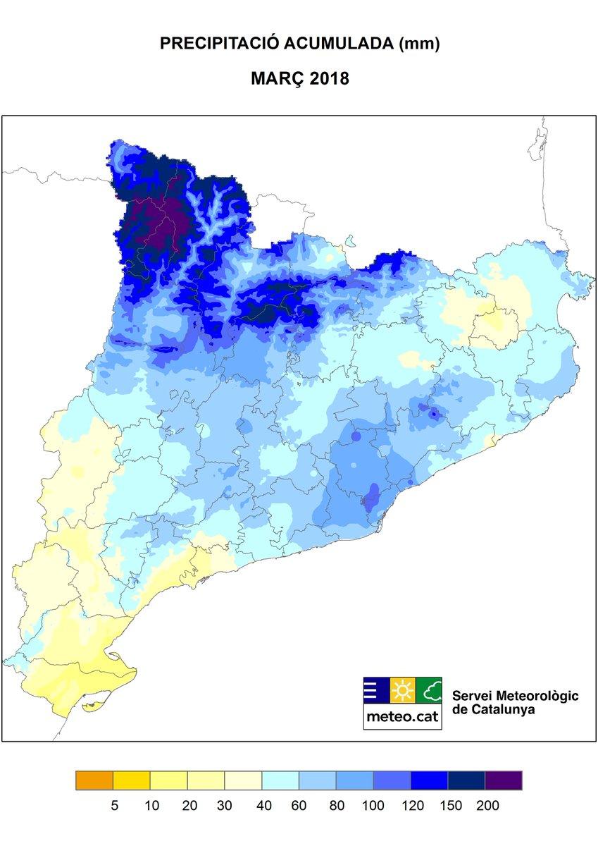 METEOCAT] Temperatures i precipitacions a Catalunya. Març 2018 - Fòrums -  Racó Català
