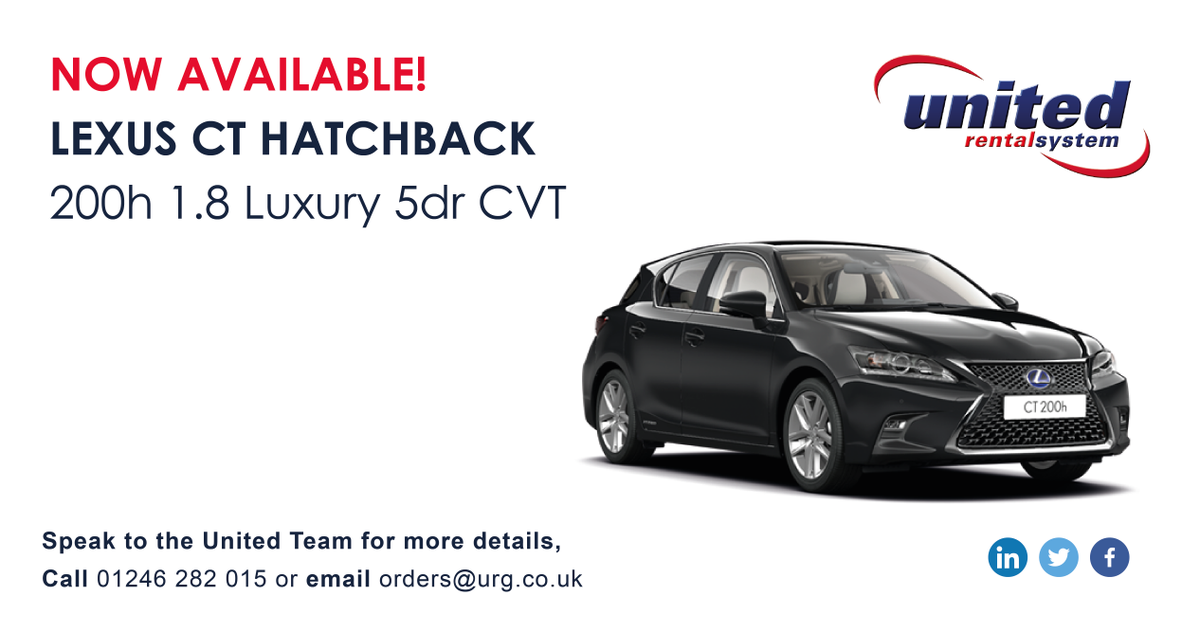 Rental Cars In Ct >> United Rental System On Twitter Lexus Ct Hatchbacks Now