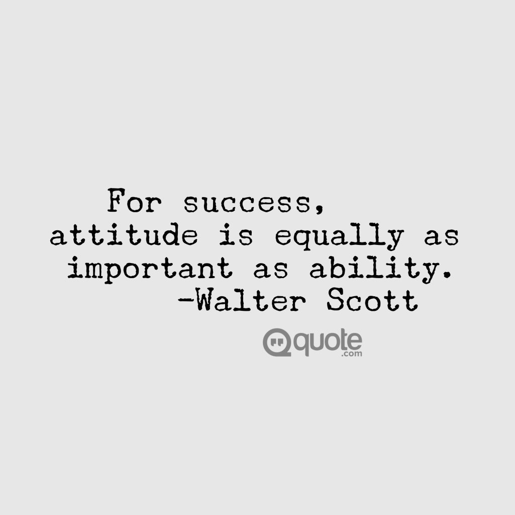 Quote On Twitter Your Tuesdaytruth Attitude Is Everything If