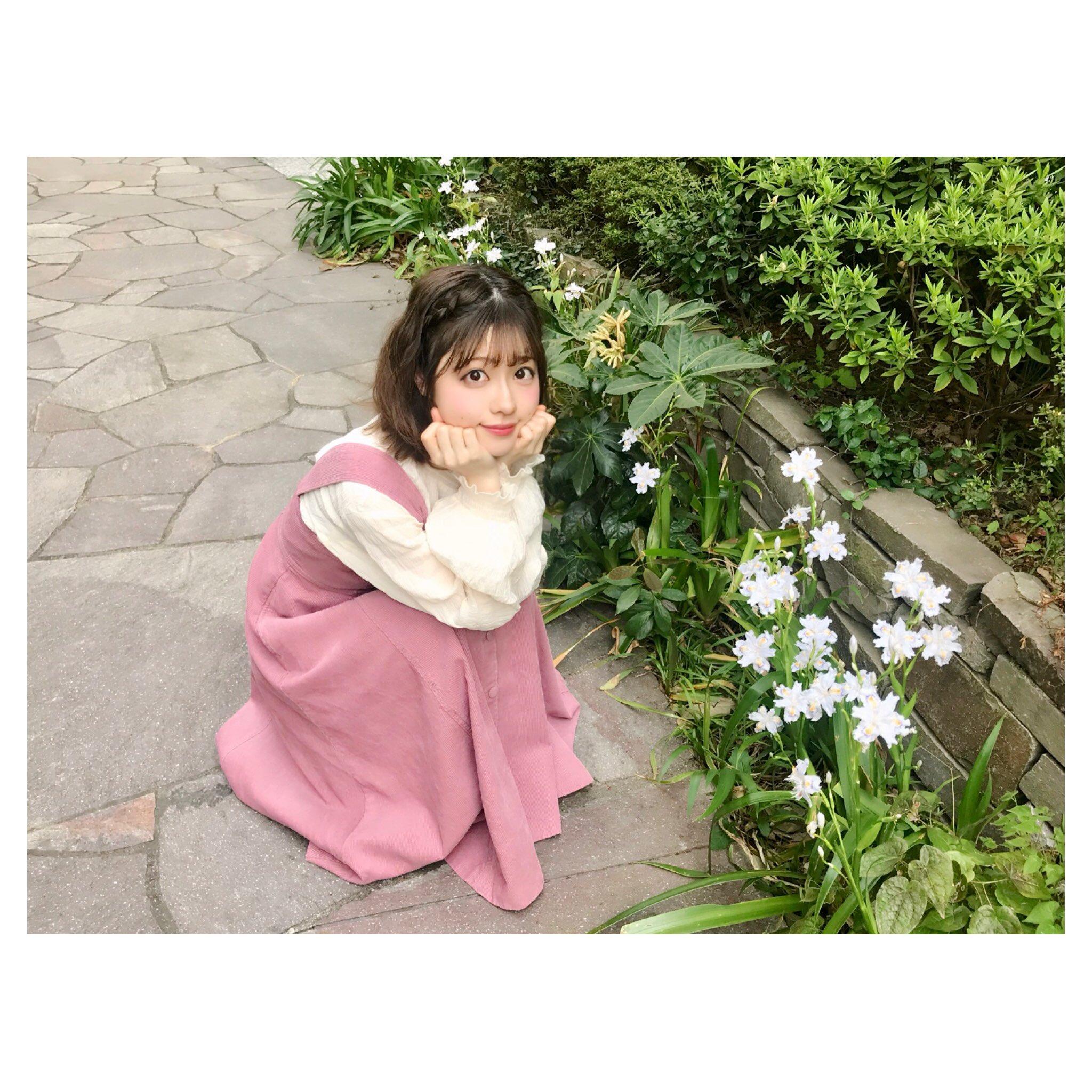お庭で礒部花凜