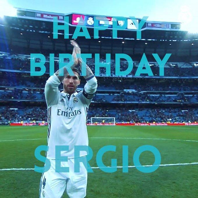 Happy 32nd Birthday to SergioRamos!