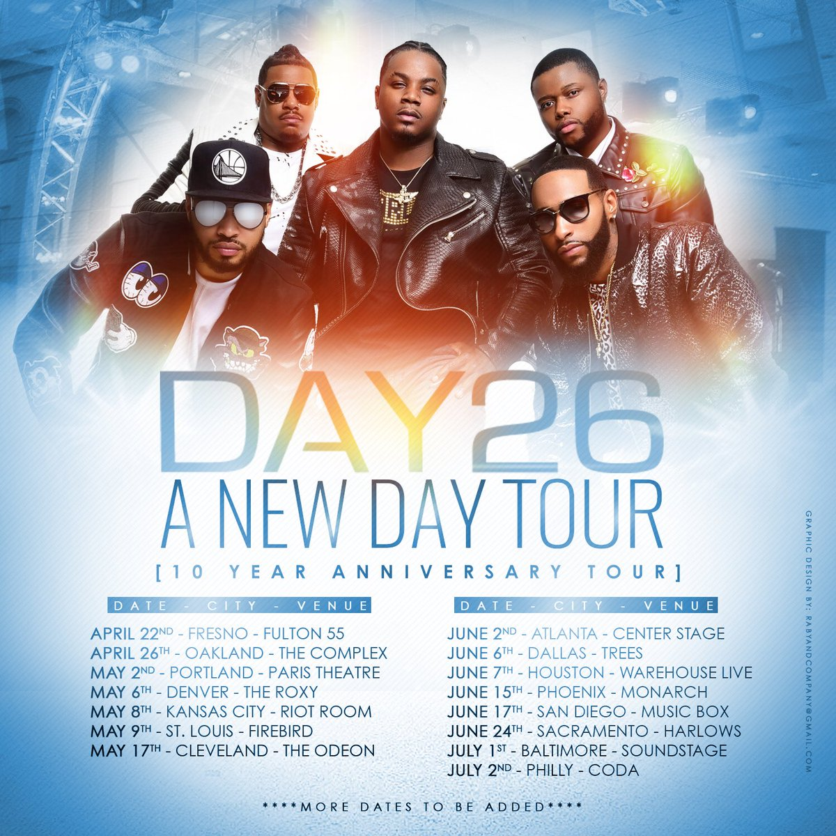 """Tour!!!! We're super excited to head out on the DAY26 """"A New Day"""" 10th Year Anniversary Tour, Get ready for this ultimate DAY26 experience !!!!! Tickets available NOW for select cities: https://t.co/S8InZYExGP (More Dates To Be Added) #BeenDownSinceDay26 #ANewDayTour https://t.co/YiRCf09nXn"""