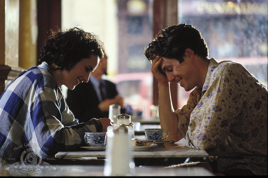 Up next at 9pm, a modern British classic: Hugh Grant and @AndieMacDowell3 star in Four Weddings and a Funeral.