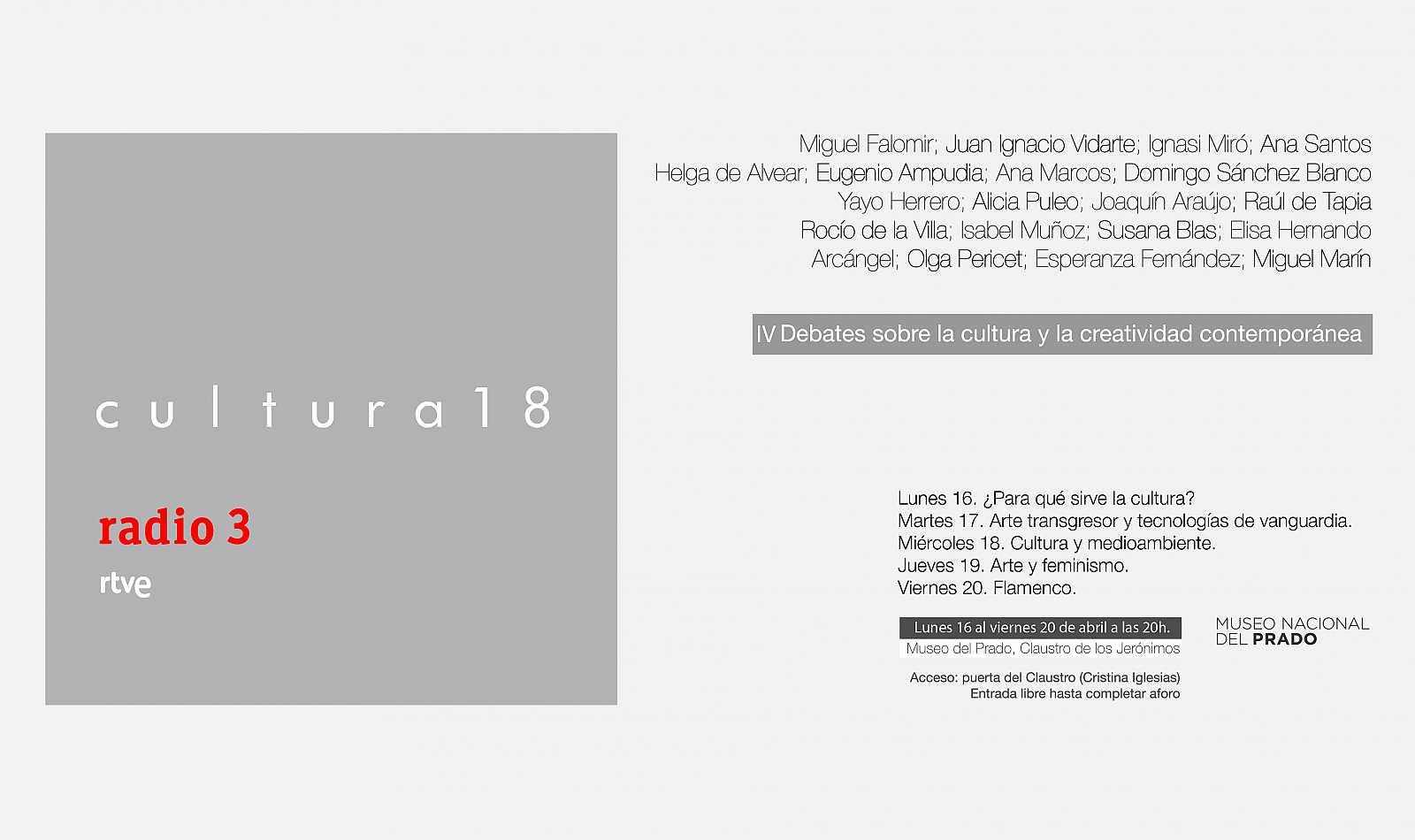 Vuelve #Cultura18. Del 16 al 20 de abril, debatimos sobre la cultura en @museodelprado https://t.co/T4GRLo84Hb https://t.co/xKBzkwOmiE